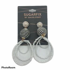 NWT Sugarfix Baublebar Striped Dangle Earrings